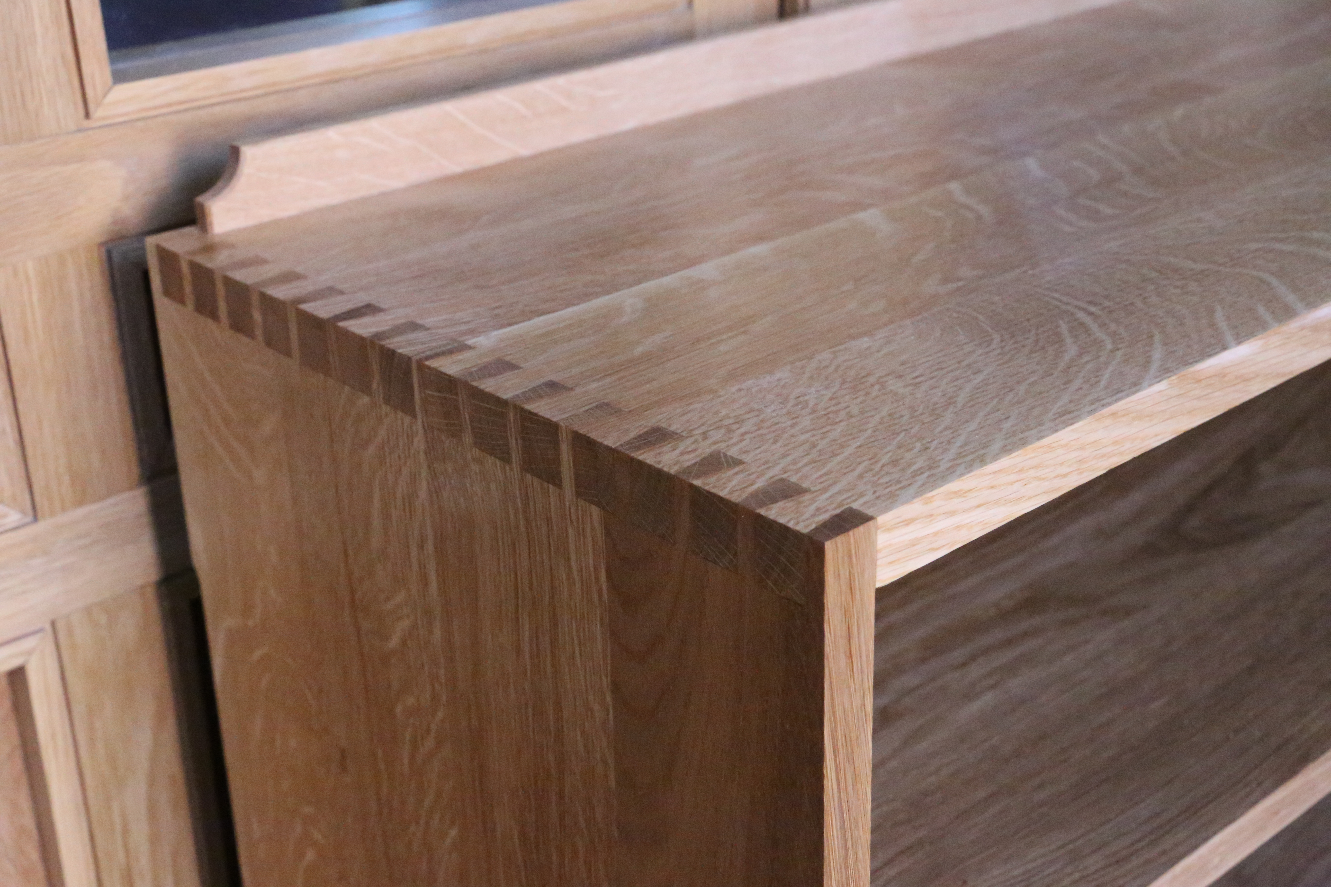 Solid Oak Cabinet Dovetail Construction Products In
